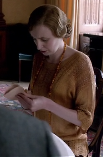 Screen shot from Downton Abbey on itv.