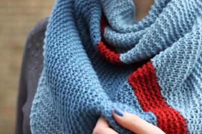 At An Angle shawl